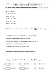Klassenarbeit Klasse 5 Hauptschule Link Und