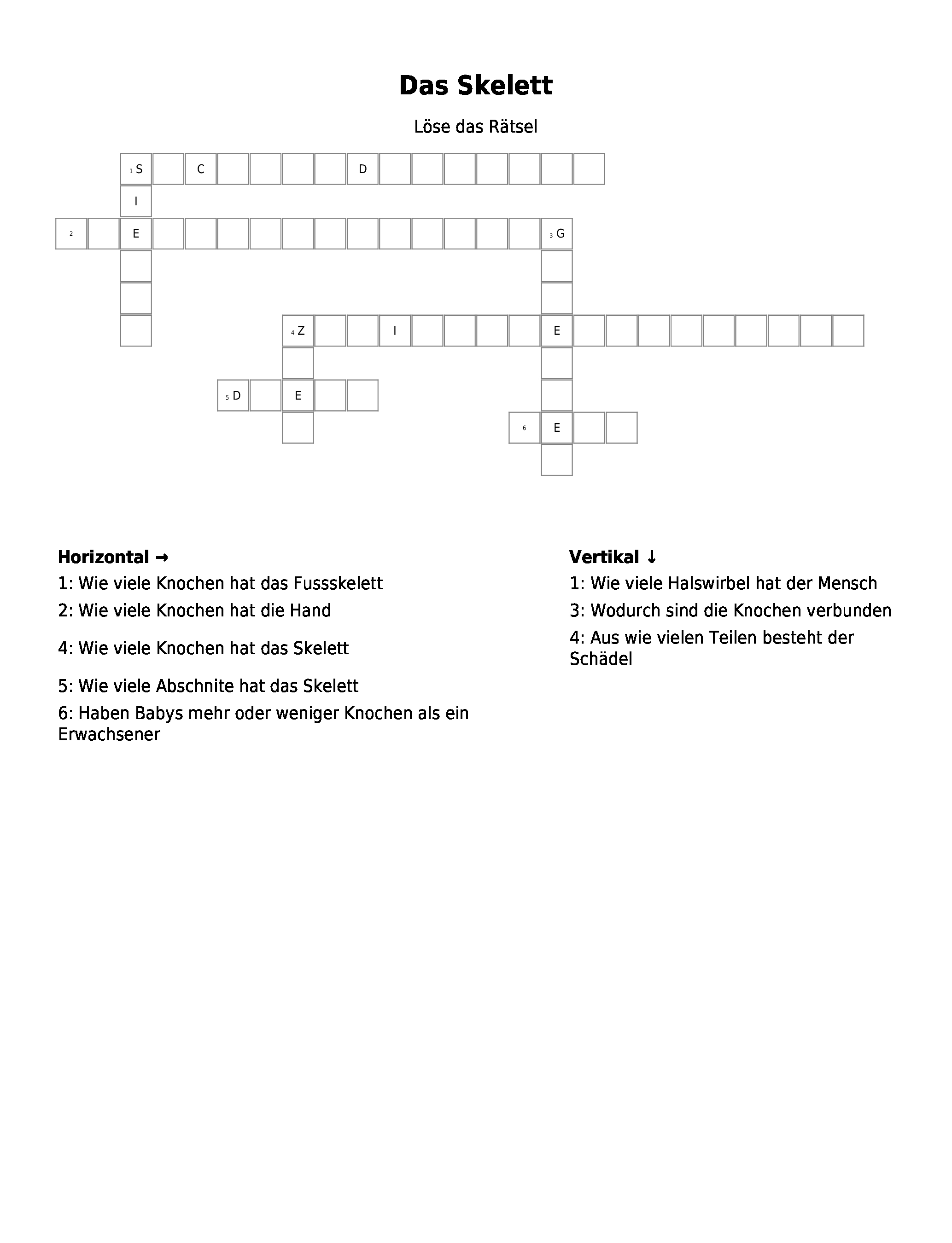 Periodensystem – Kreuzworträtsel | Link- und Materialsammlung für ...
